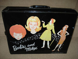 1964 BARBIE and MIDGE Travel Case