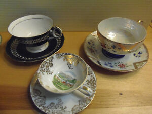 Bone China Tea Cups & Saucers, Exquisite! Lovely! Collectible!