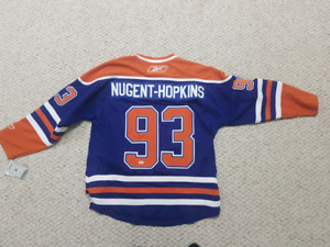 Ryan Nugent Hopkins Signed Oilers Jersey