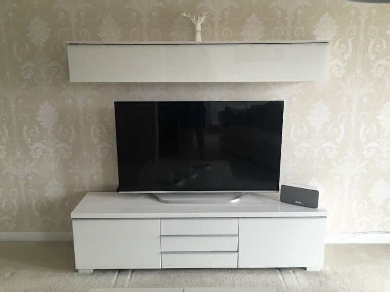Tv Stand Unit Besta Burs Ikea White In Sunderland