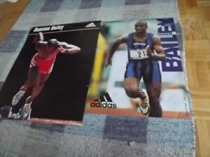 DONOVAN BAILEY,BEN JOHNSON & TERRY FOX TRACK &FIELD POSTERS&MAGS
