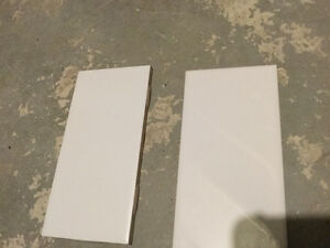 3x6 white shiny subway tile and matte white package deal only