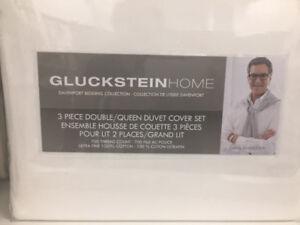 """Duvet Sheet set 3 piece, """"GlucksteinHome"""" Brand New!"""