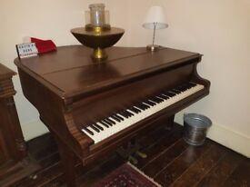 Kirkman Mahogany Baby Grand Piano