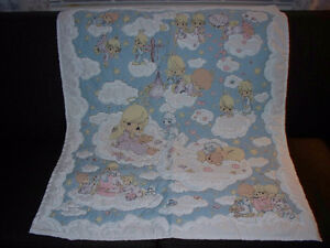 New Precious moments quilt, pillow, border and switch plate