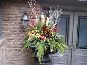 Delivery Included! Lush Winter/Holiday Planter Arrangements!
