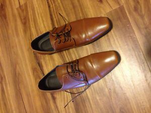 Brown dress shoes.