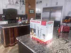 Kitchenaid 5qt Artisan stand mixer with attachments. REG 599.99