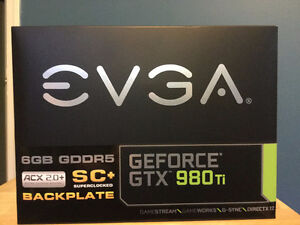 EVGA GEFORCE GTX 980 Ti SC+ ACX 2.0+ BACKPLATE
