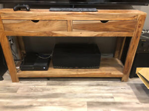 Solid wood table/stand