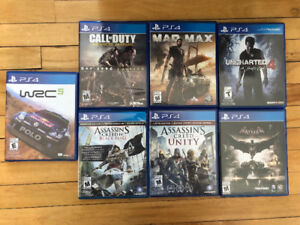 PS4 Games: Arkham Knight, Assassins Creed, WRC 5, Call of Duty