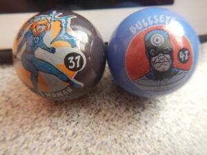 Collectable Marvel Marbles Invisible Woman #37, Bullseye #47