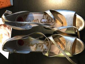 Sam Edelman Gold Stilettos size 9.5