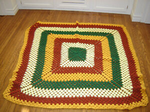Afghan throw blanket
