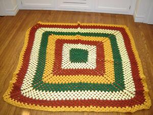 Afghan throw blanket