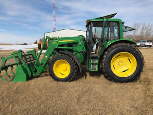2008 John Deere 6430 Premium with Loader and grapple bucket