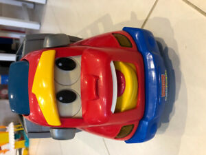 Fisher Price truck with slide and Recyling truck