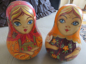 Russian Doll Roly - Poly Wooden,Musical Matryoshka Box,Collect