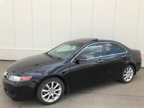 2008 ACURA TSX, BLACK ON BLACK.........780-235-6830