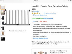 New  Munchkin Safety Gate