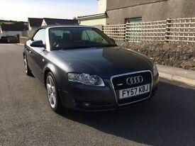 AUDI A4 2.0 TDI S-LINE CONVERTIBLE HIGH SPEC VERY LOW MILEAGE BOSE EXCELLENT CONDITION
