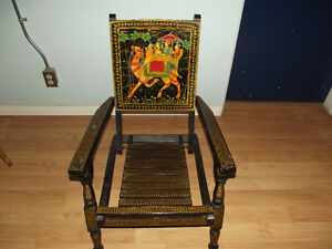 Mid East Asian Oriental Hand Painted Chair $140.00 OBO