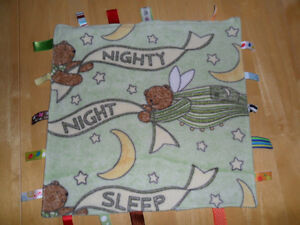 3 Baby Blankets incl a Tags + receiving blanket. $10 for all.