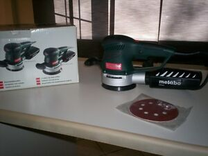 Sableuse NEUVE Metabo SXE 425 Turbo Tec NEW Metabo disc sander.