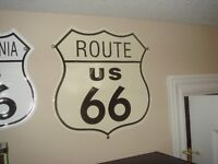 Gas, Oil & Route 66 Metal Signs