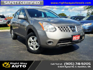 2010 Nissan Rogue S   AWD   SAFETY CERTIFIED