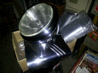 Harley Davidson Fat Boy Headlight with 3 piece shroud.