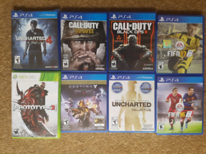 Selling PS4 and XBOX360 games *Prices  negotiable*