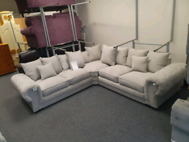 Brand new in the wrapper Milo chesterfield corner group sofa £799