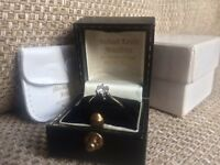 18ct gold white diamond engagement ring