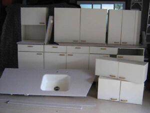 Almond Kitchen including Corian Countertop and Sink!