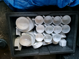 Cups, saucers, cuttlery