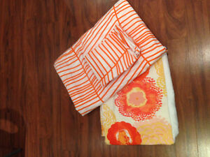 Orange ikea duvet cover
