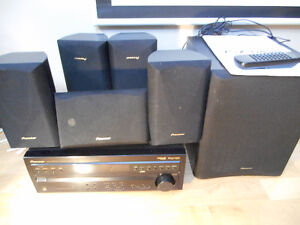 Pioneer receiver and speakers