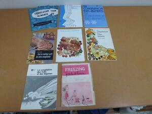 Livres de recettes sur congélation, salades, Presto, GE et autre