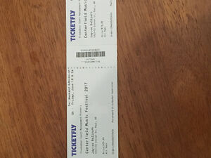 2 center field concert tickets