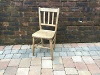 Old Wooden Oak Children's Dining/Bedroom Rustic Kitchen Chair