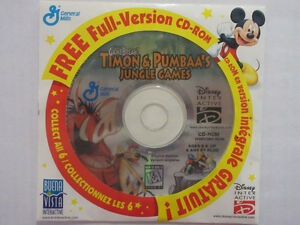 The Lion King: Timon & Pumbaa's Jungle Games CD-ROM