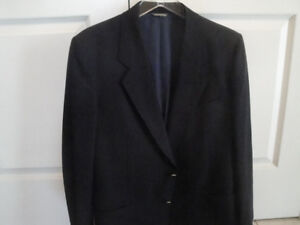 SIZE 42 NAVY, 100% WOOL CLASSIC BLAZER - MADE IN ITALY!