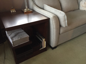 Unique Pair of Modern Side Tables