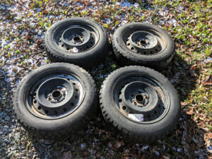 205/55R16 Snowtrakker Studded Winter Tires On Rim