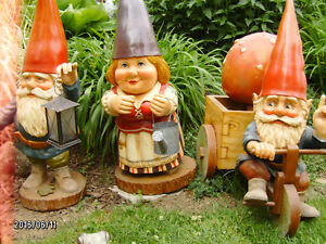 15 Gnomes, and a mushroom We need a new home, the snow's coming!