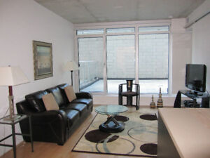 August 1st! Fully furnished 1 bdrm + den in downtown Ottawa