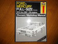 1975-1987 Ford Mercury LTD Marquis Crown Vic Service Manual