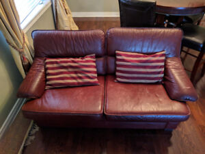 Leather Sofa, Love Seat and Rug $400 obo