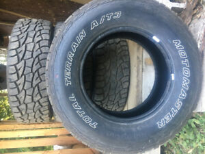 Set of 4, almost new  Motomaster Total Terrain AT/3 tires